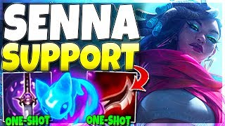 SENNA SUPPORT IS AMAZINGLY OP!!! (One-Shot As a SUPPORT) Senna Support Gameplay - League of Legends