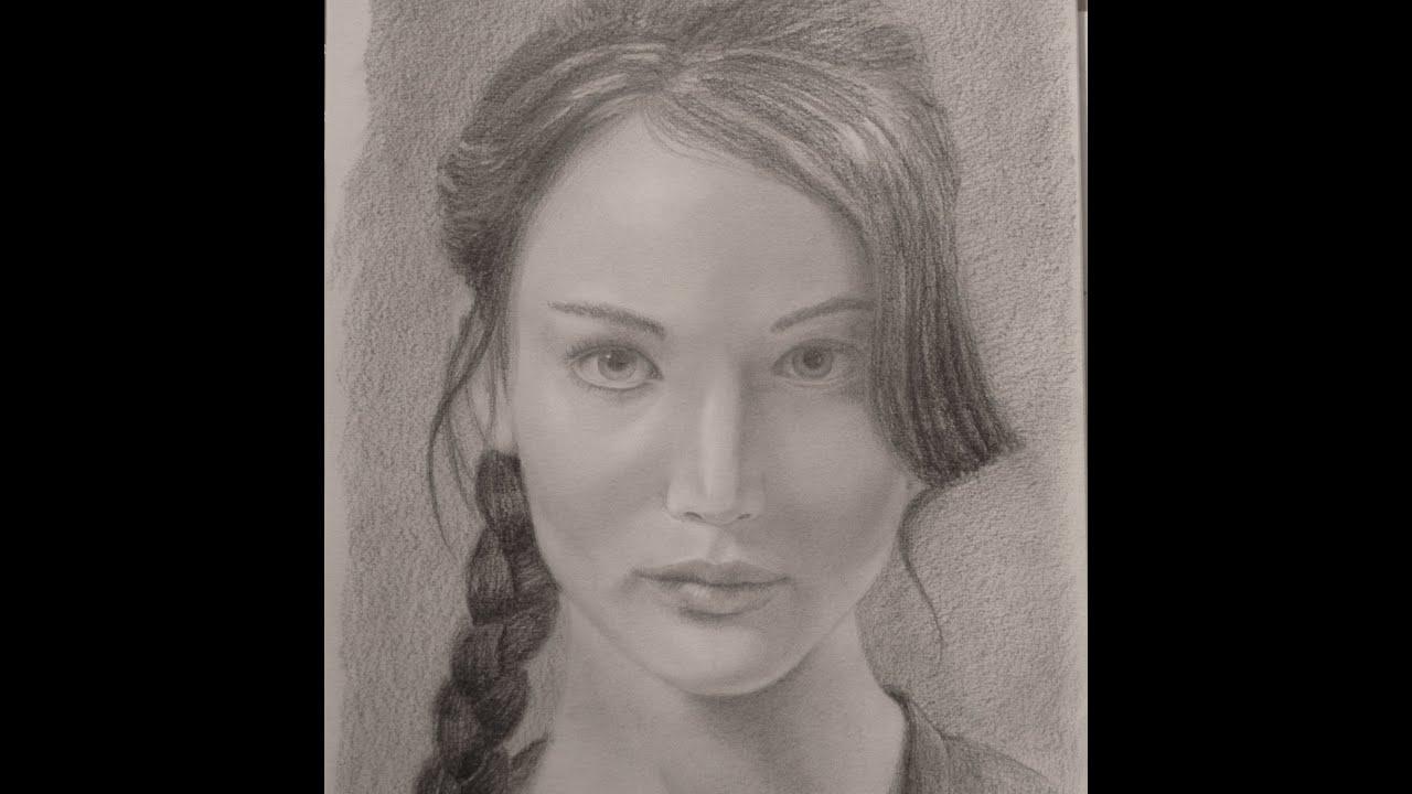 Katniss Everdeen Portrait Hunger Games How To Do A
