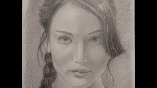 Katniss Everdeen Portrait (Hunger Games) - How to do a Portrait