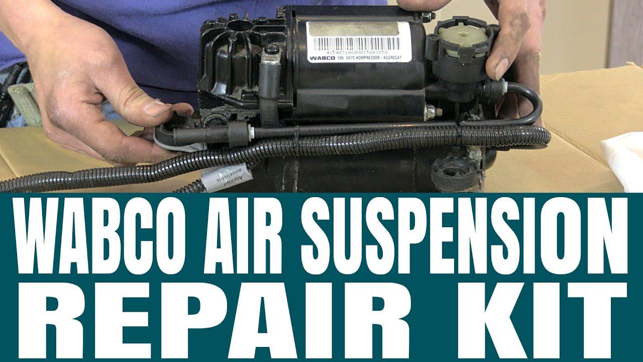 wabco air suspension compressor piston repair kit for audi allroad [ 1280 x 720 Pixel ]