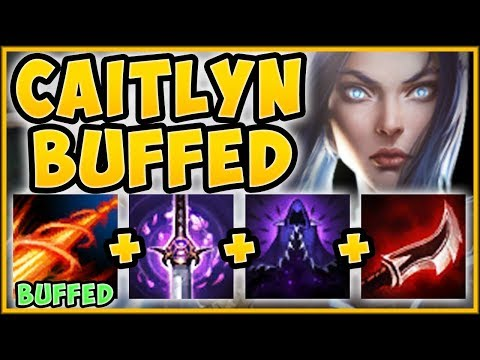 WTF RIOT BUFFING CAITLYN R AGAIN MAKES SNIPER CAITLYN 99% OP CAITLYN TOP - League of Legends