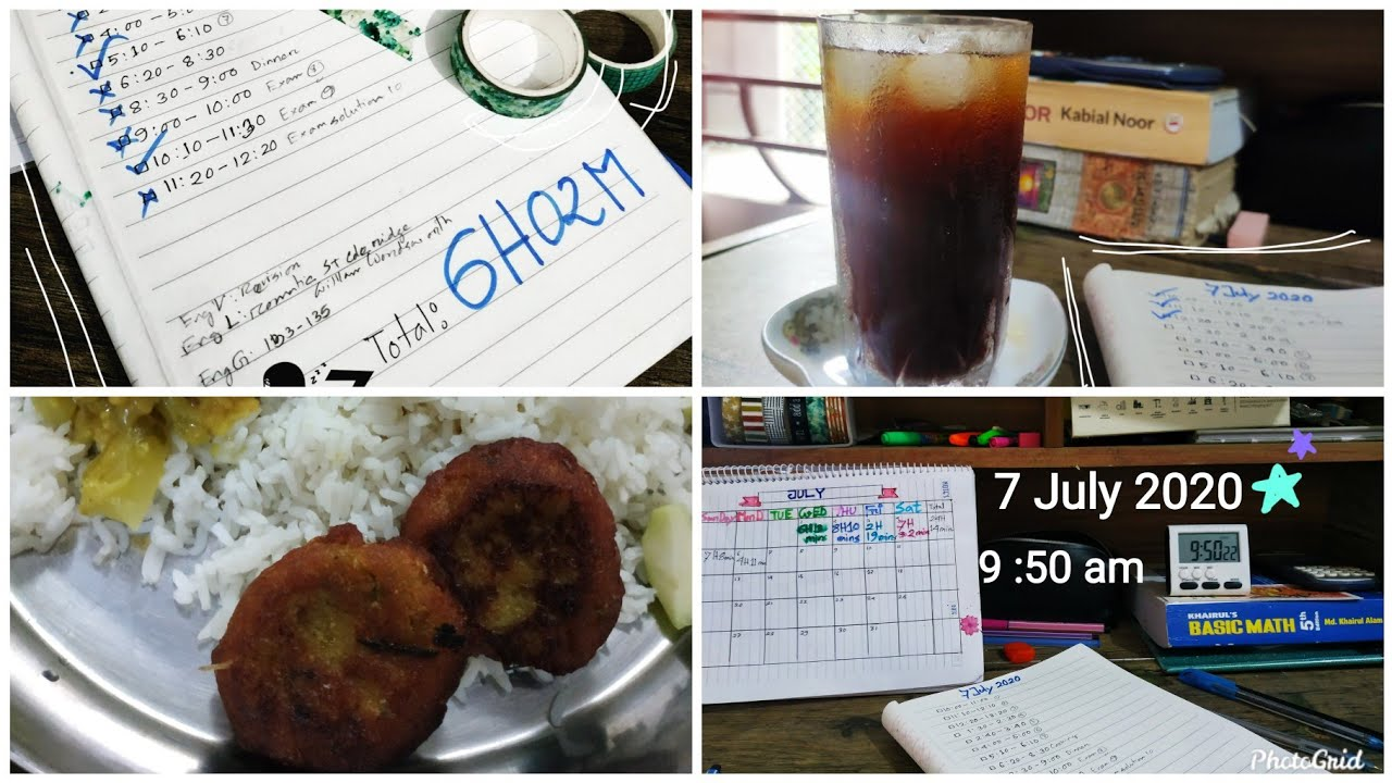 6 Hours Study  Vlog |  Cold Coffee  | Cooking | Time lapse|D-7