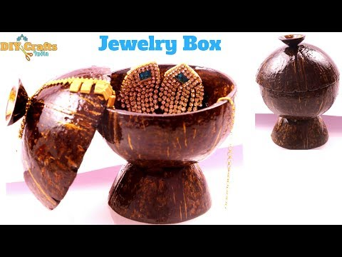 Coconut Shell Jewelry box | Storage Box | Nature craft | DIYCrafts India #58