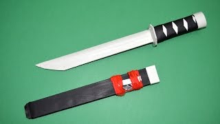 Como hacer una Espada de Papel | Tanto de Papel│ Katana de Papel - juguete de papel