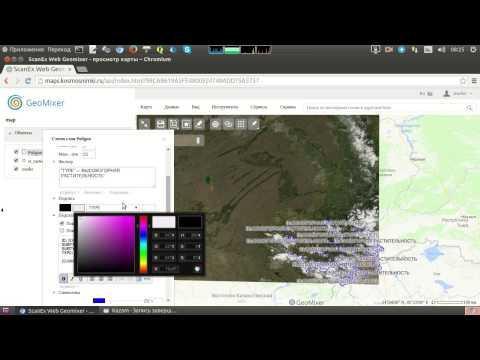 GeoMixer. Редактирование стилей слоев карты
