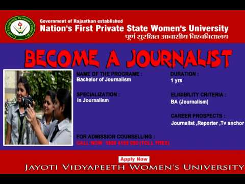 Bachelor of Journalism BJMC for girls
