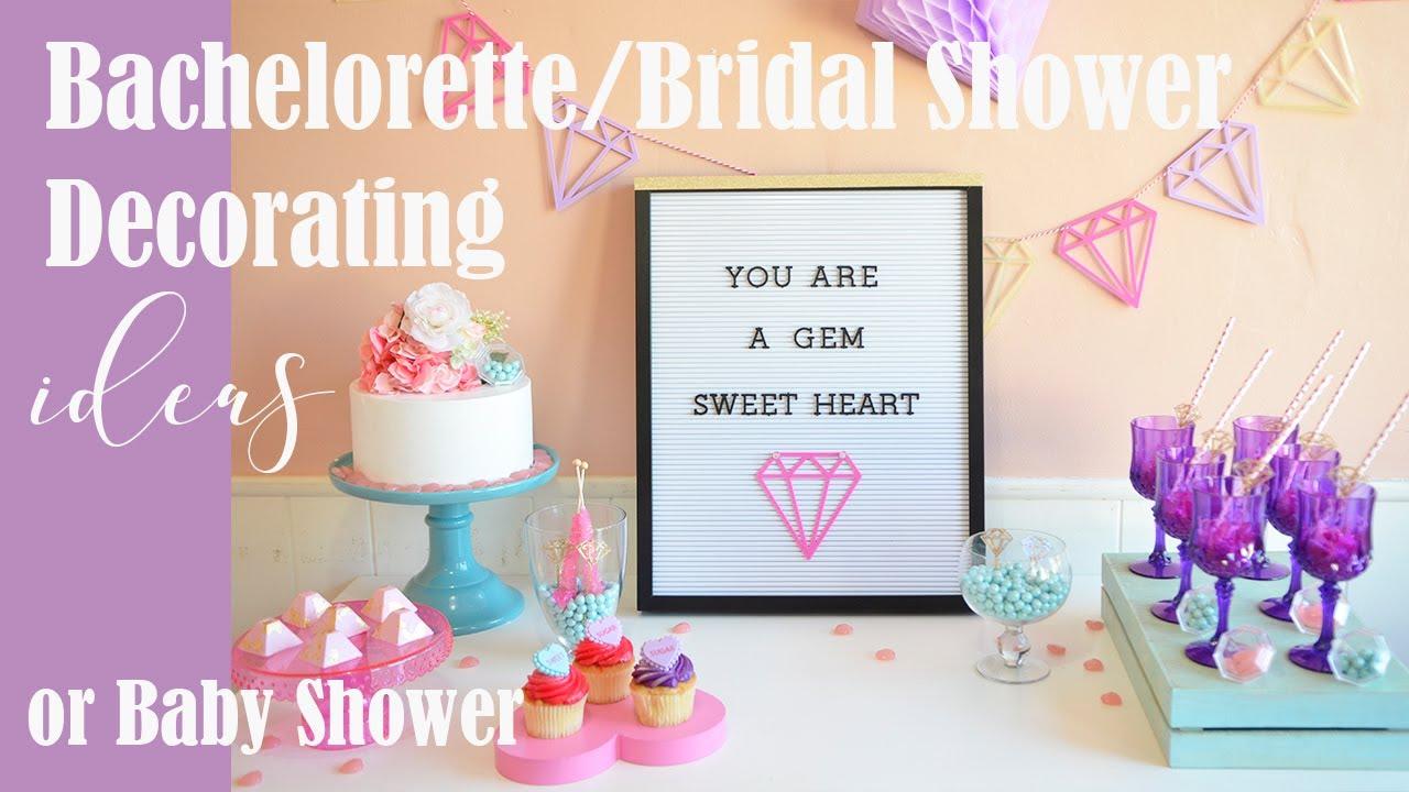 bridal showerbachelorette party decoration ideas