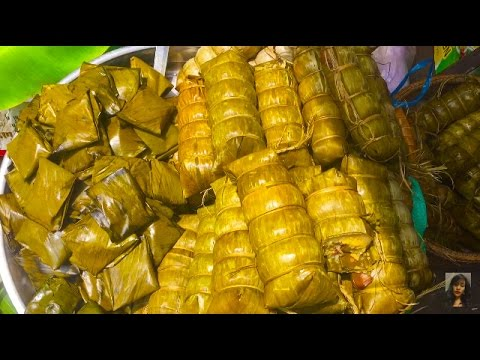 Asian Street Food, Cambodian Market Activities And Food Compilation Selling On Khmer New Year