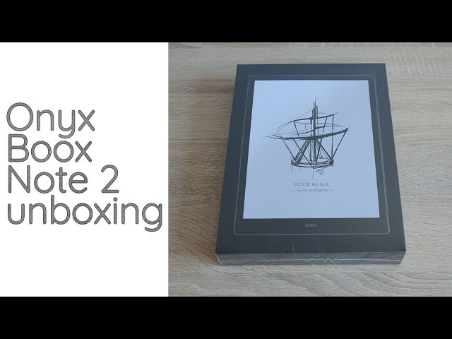 Onyx Boox Note 2- unboxing