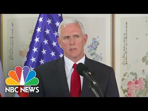 VP Mike Pence Warns North Korea That 'All Options Are On The Table' | NBC News