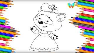 Как нарисовать СОНЮ из мультика Ми ми мишки Рисуем и Учим Цвета Coloring Kids