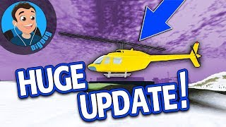 Helicopters in Vehicle Simulator! Hooray! Roblox Vehicle Simulator Winter Update adds AWESOMENESS!!