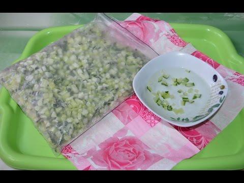 Как заморозить свежие огурцы на окрошку в домашних условиях