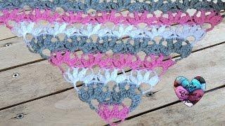 Châle Pétales De Fleurs Crochet Super Facile Châle Crochet