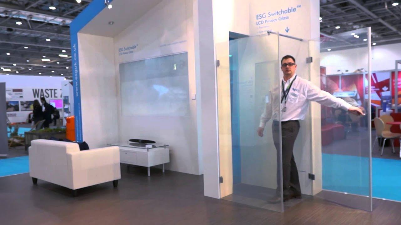 Esg Switchable Lcd Privacy Glass At Ecobuild 2013 Youtube
