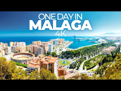 ONE DAY IN MALAGA (SPAIN) | 4K UHD | Ciudad del paraiso (the paradise city) | music by MeFree