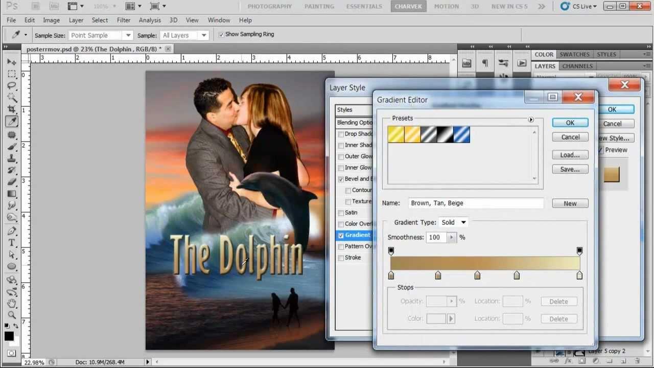 como hacer un poster de pelicula en photoshop cs6