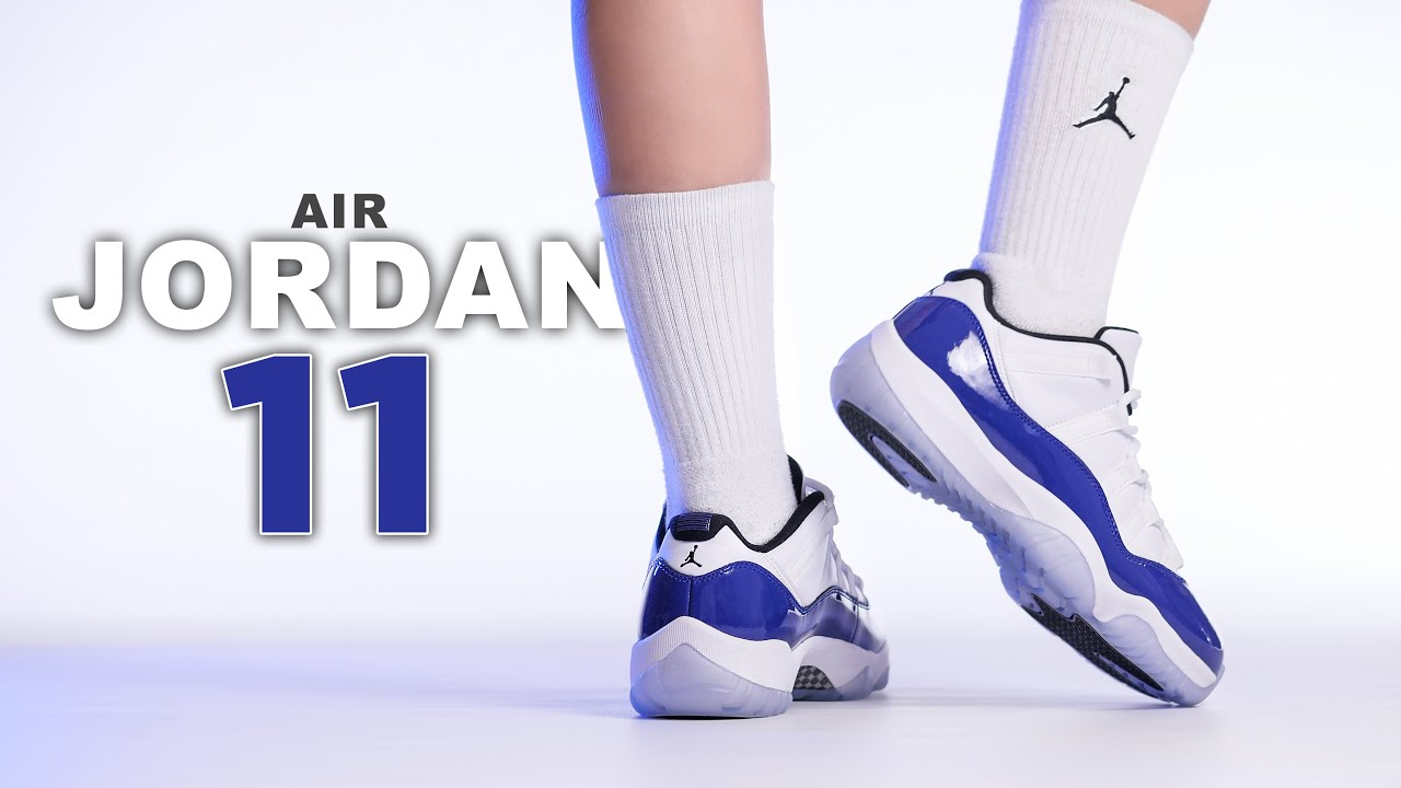 Air Jordan 11 Low Concord Sketch On Foot 4k Review Youtube