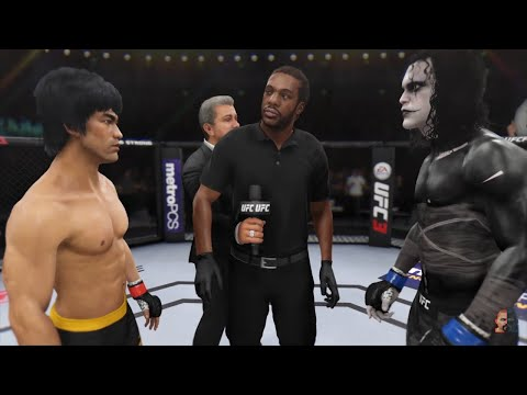 Bruce Lee Vs The Crow (Brandon Lee) ASTRONOMICAL!!! | EA Sports UFC 3