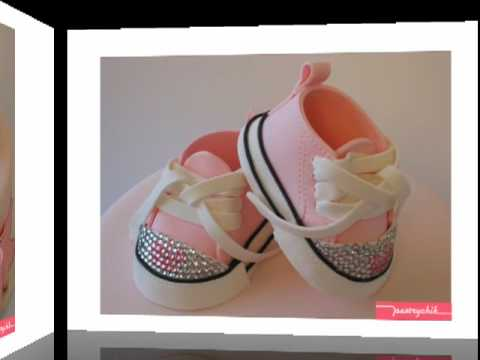 Posh Princess Baby Shoe Fondant Cake Youtube