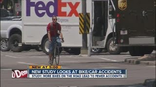 CU study finds more bicycles on the road lead to fewer accidents