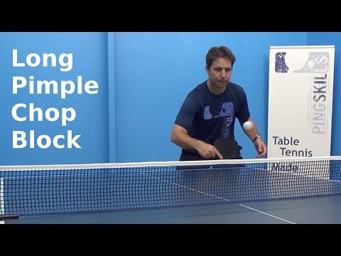 Long Pimple Chop Block | Table Tennis | PingSkills