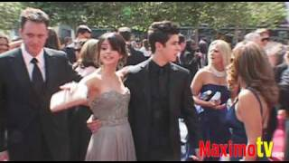 Subscribe http://bit.ly/mrsda2 selena gomez and david henrie (wizards of waverly place) arriving at the 61st annual primetime creative arts emmy awards red c...
