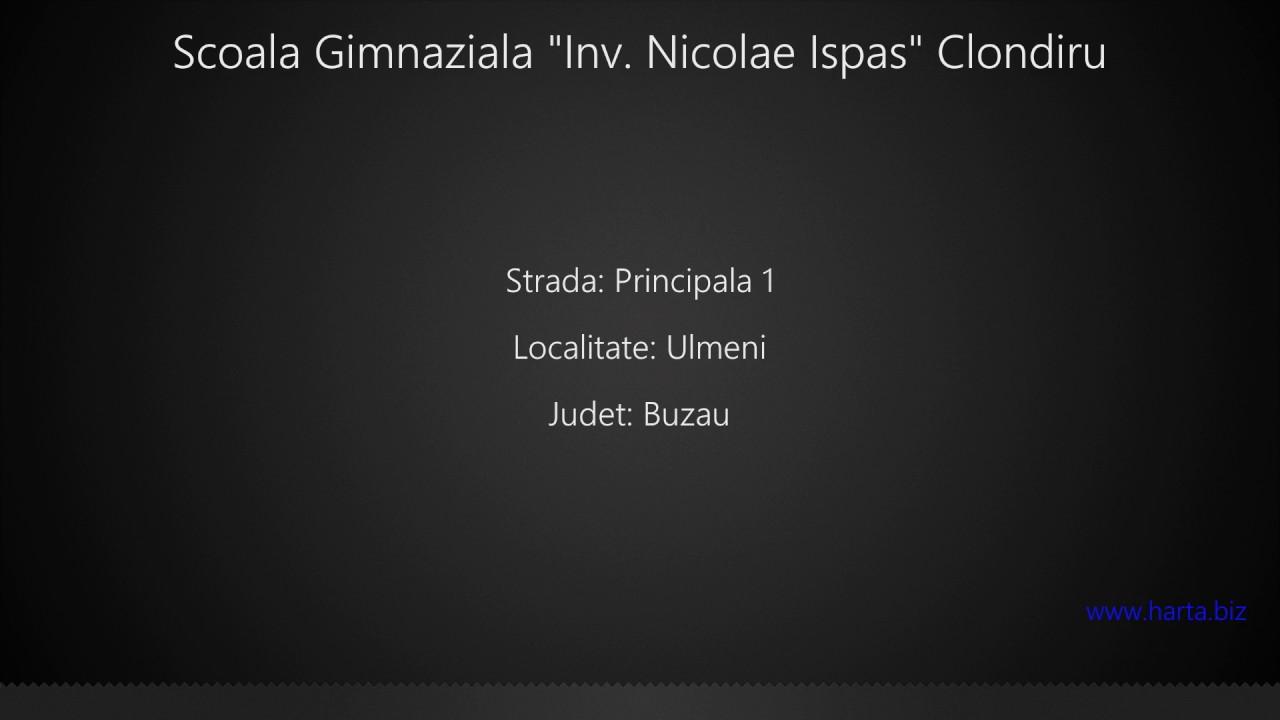 Scoala Gimnaziala Inv Nicolae Ispas Clondiru Ulmeni Youtube