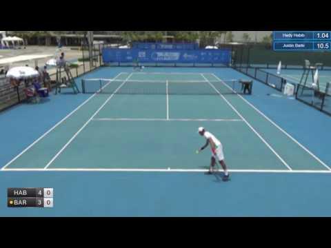 ITF Tennis 20.06.2017 Hady Habib (USA) - Justin Barki (Indonesia) 2:0 (7-6 7-5)
