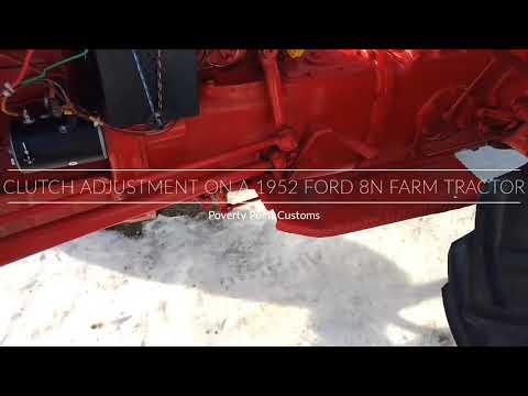 8n Ford Clutch Stress Strain Diagram For Steel Repair Adjustment On A 1952 Farm Tractor
