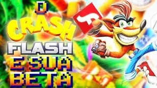 O CLÁSSICO CRASH BANDICOOT FLASH de NAVEGADOR! BETA ( Curiosidades dos Jogos Games Análise fan game)