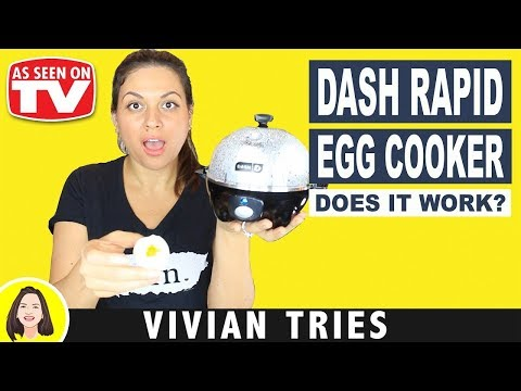 Dash Rapid Poached Egg Cooker Review | Testing As Seen On Tv Product