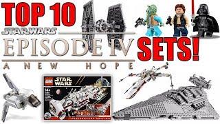 Top 10 LEGO Star Wars Episode 4 Sets! A New Hope | Millennium Falcon, Star Destroyer, Tie Fighter |