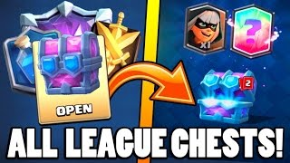 OPENING ''ALL LEAGUE 1-9'' NEW DRAFT CHESTS :: Clash Royale :: OPENING ULTIMATE CHAMPION CHEST!