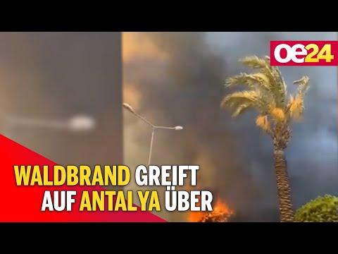 Wohnviertel evakuiert: Waldbrand greift auf Antalya über