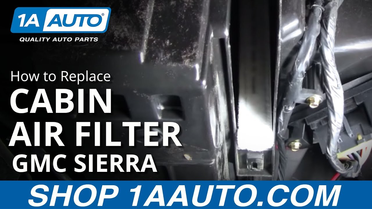 how to install replace cabin air filter silverado suburban tahoe sierra 99 02 auto parts 1aauto com youtube [ 1920 x 1080 Pixel ]