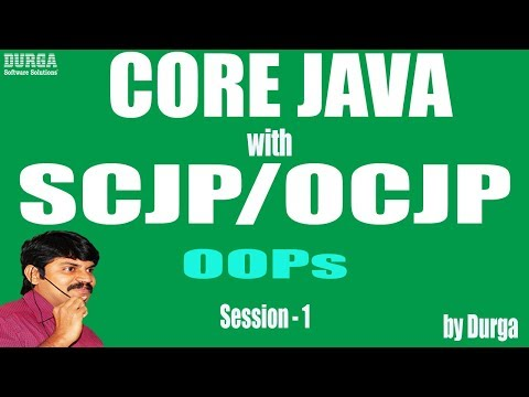 Core Java With OCJP/SCJP: OOPs(Object Oriented Programming)Part-1||Introduction||data hiding