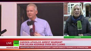 Sweden upholds arrest warrant for Assange over sex claims