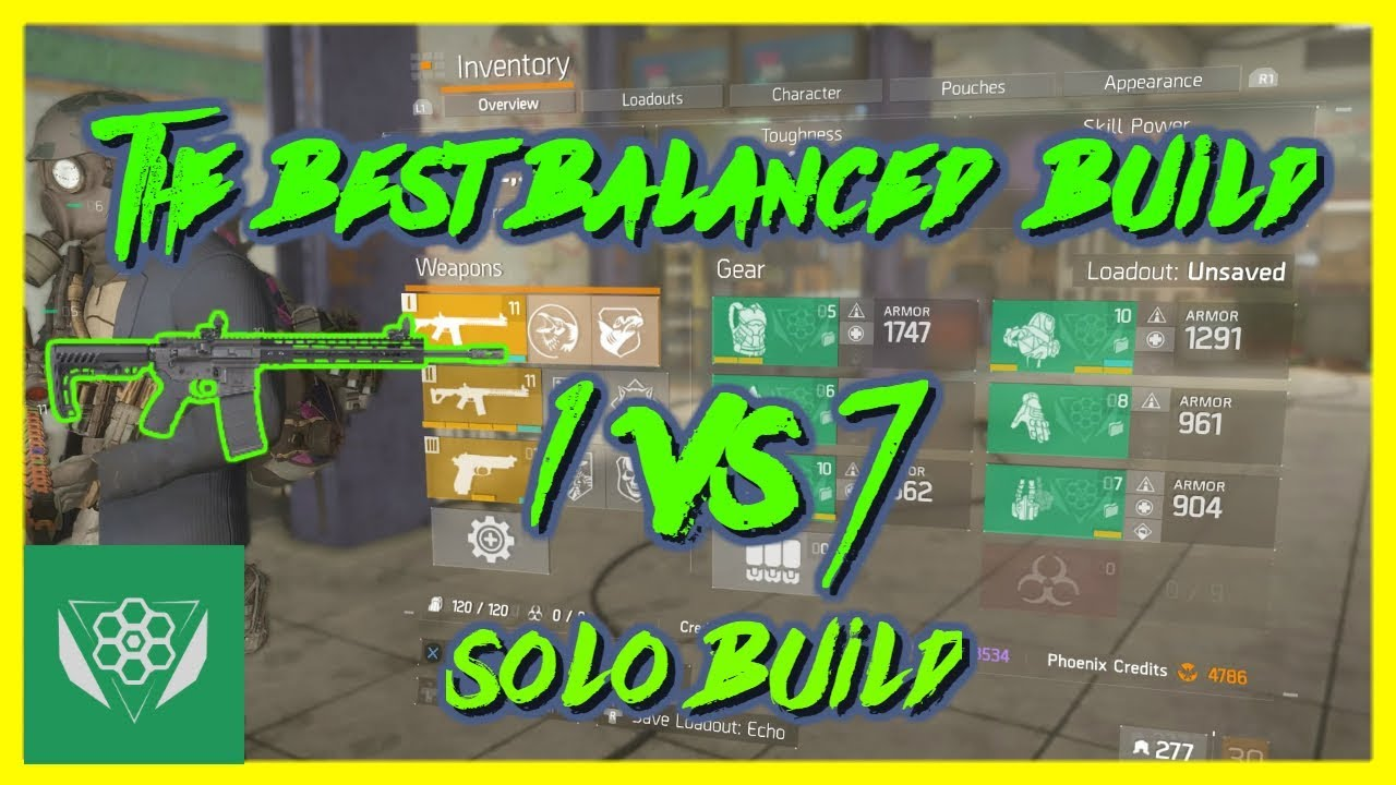 The Best Balanced Build 1 Vs 7 1 8 2 The Division Youtube