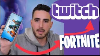 How to stream Fortnite on iphone and ipad to twitch and YouTube (streamlabs)