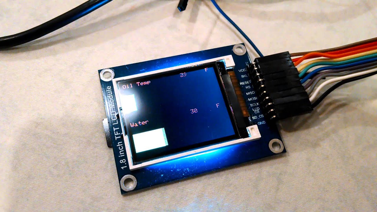 Dual bar modular arduino obd gauge youtube