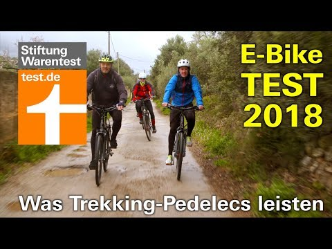 E-Bike Test 2018: Wie gut sind die neuen Trekking-Pedelecs? (Stiftung Warentest)