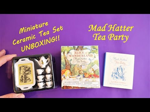 Alice in Wonderland Mad Hatter Tea Party Miniature Vintage Ceramic Tea Set Unboxing
