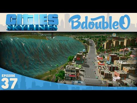 Cities Skylines Gameplay :: TSUNAMI!!! Part 37