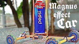 diy Magnus effect Car! - How to make a Magnus effect powered car.