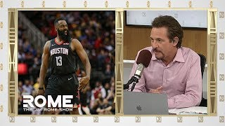James Harden DROPS a 50 pts Triple-Double | The Jim Rome