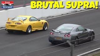 700HP Toyota Supra - Drag Racing & BURNOUTS! - Japfest 2017
