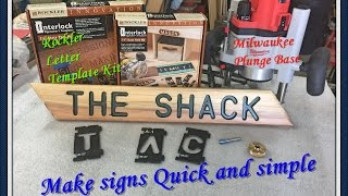 How to make a sign #MilwaukeeTool router/#Rockler letter template kit