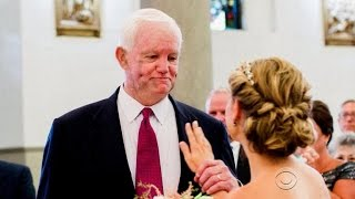 Bride given away by man who received her dad's heart