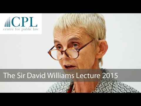 'Devolution. Federation. Constitution. From here to where?': The 2015 Sir David Williams Lecture